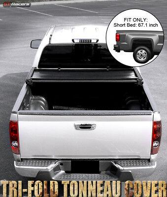 For 2004-2015 Nissan Titan Crew Cab 5.5 Ft Short Bed Tri-Fold Soft Tonneau Cover