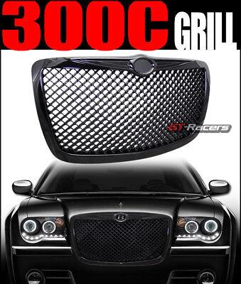For 2004/2005-2010 Chrysler 300 300C Black Mesh Front Hood Bumper Grill Grille