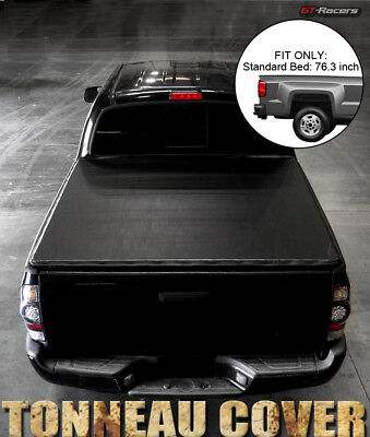 """For 2009/2010-2018 Dodge Ram 1500/2500 6.4' 76"""" Bed Snap-On Vinyl Tonneau Cover"""