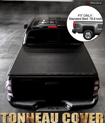 Cab Short Bed Standard Truck (For 1994-2000 Chevy/GMC C10 CK C/K Pickup 6.5 Ft Short Bed Snap-On Tonneau Cover )