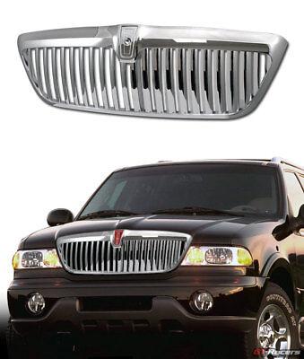 For 1998-2002 Lincoin Navigator Chrome Vertical Upper Front Bumper Grill Grille