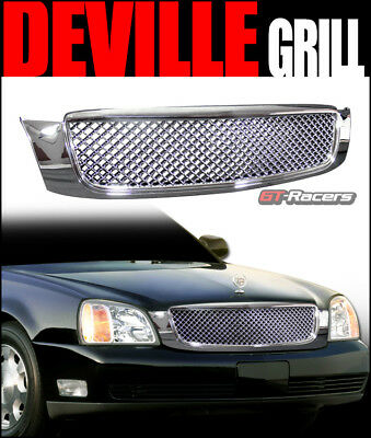 For 2000-2005 Cadillac Deville Chrome Honeycomb Mesh Front Hood Bumper Grille