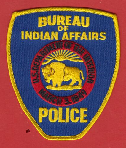 BUREAU INDIAN AFFAIRS BIA DEPT. INTERIOR POLICE SHOULDER PATCH  Buffalo