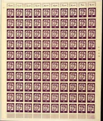 """Berlin Nr. 201 DZ postfrisch / **, Bogen mit Druckerzeichen """"12"""" (41656)"""