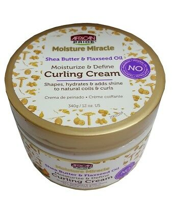 African Pride Moisture Miracle Shea Butter & Flaxseed Oil Curling Cream 340g  - African Shea Butter