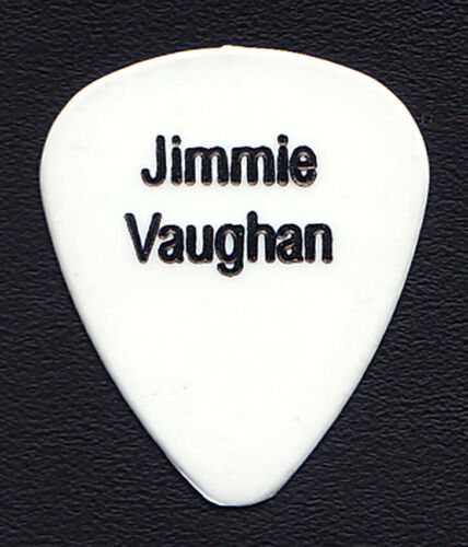 Jimmie Vaughan Single-Sided White Guitar Pick