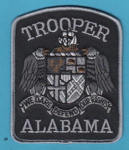 ALABAMA  STATE TROOPER POLICE SHOULDER PATCH.   (Subdued - Black)