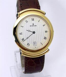 EDOX SWISS  guilloche WRIST WATCH  NOS ETA MOV.