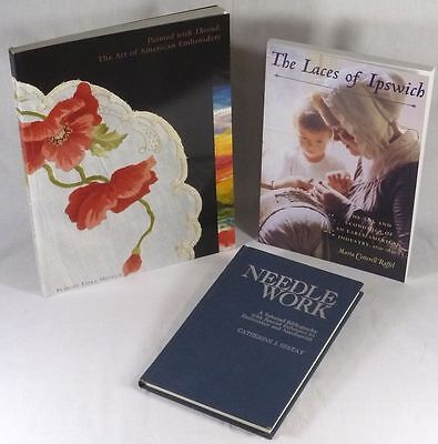 Three Books on Antique American Needlework, Ipswich Lace, Embroidery and more!