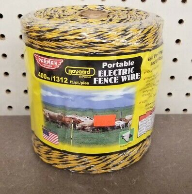 Parmak Baygard Electric Fence Wire Yellow Black Aluminum 1312-ft. Spool