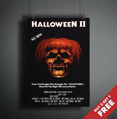 HALLOWEEN 2 II 1981 MOVIE POSTER A3 A4 * Classic Thriller Cult Horror Film Print ()