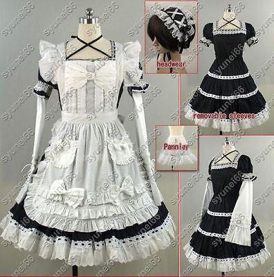 Gothic Lolita Costume Maid Sissy Dress Halloween Cospla - Sissy Halloween Costume