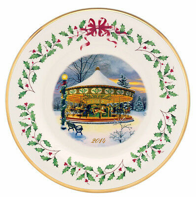 Lenox Holiday Collector Plate 2014 Carousel Limited  120 New