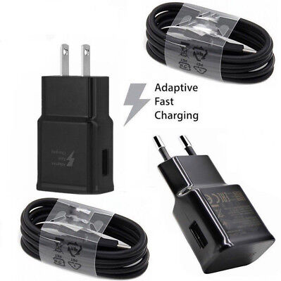 Adaptive Fast Wall Charger + Cable Kit For Samsung Galaxy S8 S9 Plus Note 8 A8