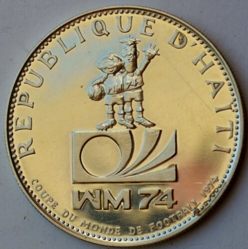 Haiti 25 Gourdes 1973, World Cup 1974, Silver Coin