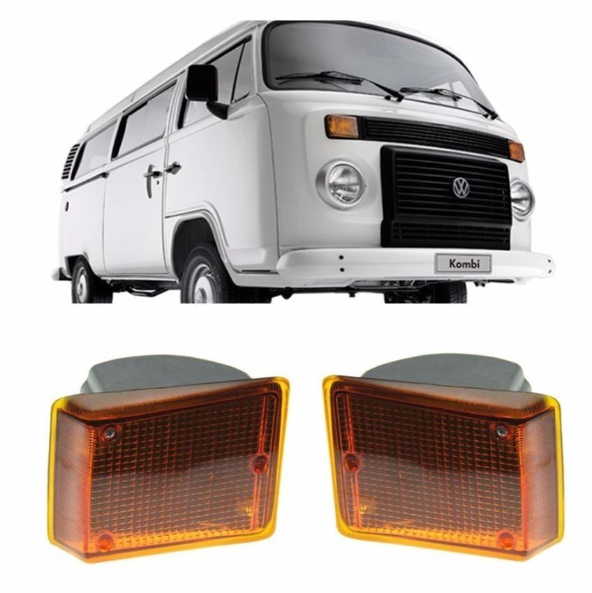 VW Bus Type 2 COMPLETE Assembly Turn Signal Light 2pcs pair Orange Amber 73-79