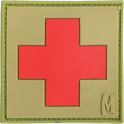 Maxpedition MXMED2A Medic Patch Large Arid Light Green Red Cross