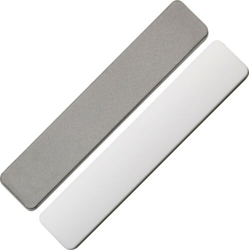 EZE-LAP Knife Sharpener Super Fine Diamond & Ceramic Side Leather Pouch Included