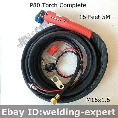 Hf Pilot Arc 80a P80 Plasma Cutter Hand Torch 15ft Simadre 80sp 80amp