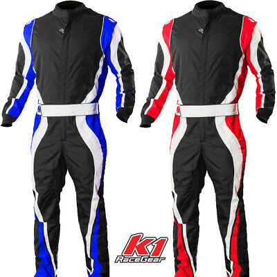 K1 Speed1 Karting Suit - Pro Level Kart Racing Blue Red  Kids to Adult Sizes Kart Racing Suits