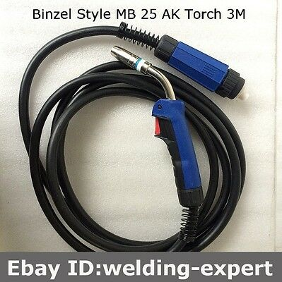 25ak Mig Welding Gun Torch10 250amp Replacement For Longevity Esab Tweco 2