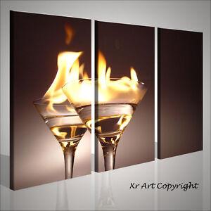 Quadro moderno flaming cocktail bar moderno quadri moderni - Quadri casa moderna ...