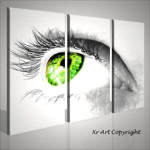 Quadro moderno green eye arredo bar disco quadri moderni - Quadri casa moderna ...