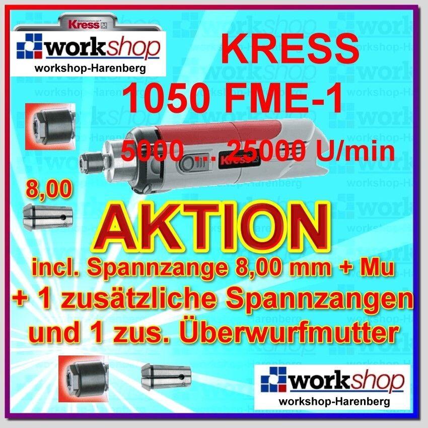 Kress 1050 Fme-1 1050fme-1 Fräsmotor Mit 2 Spannzangen + Überwurfmuttern