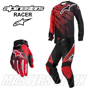 2013 ALPINESTARS RACER MOTOCROSS MX KIT COMBO RED J=XL P=36