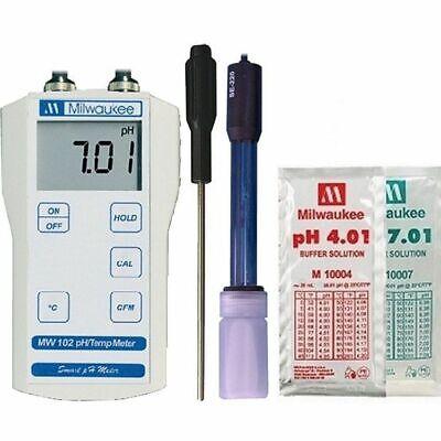 Milwaukee Mw102 Digital Ph Temperature Meter W Atc Portable Economy Tester