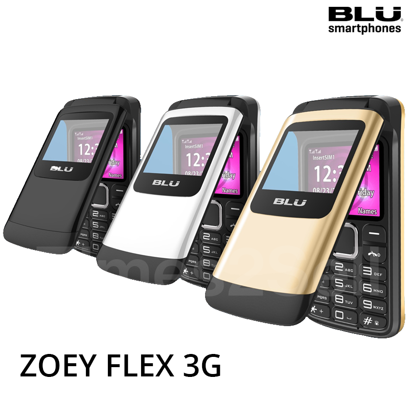 BLU Zoey Flex 3G - Factory GSM Unlocked AT&T T-Mobile Flip P