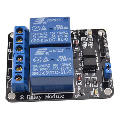 Practical 5v 2 Channel Relay Module With Optocoupler For Pic Avr Dsp Arduino Ca