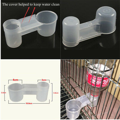 Plastic Pet Bird Drinker Feeder Water Bottle Cup Accessory For Chicken Pigeon