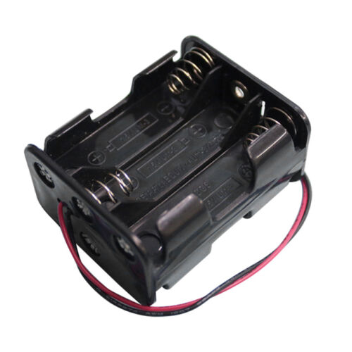 ABS Storage Case Holder Box Clip with Wire For 9V 6 AA Battery for Battery DIY