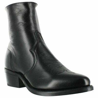 Sage by Abilene Men's 7 inch Black Cowhide Zipper Western Boots -