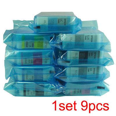 Original Epson Pro3880 Genuine Ink Cartridges T5801 T5802 T580A T580B 1set=9pcs  (Epson T5801)