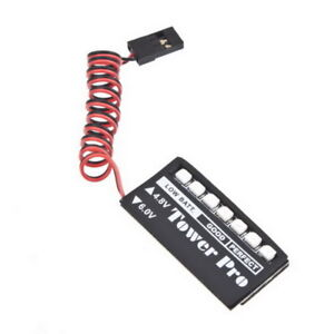 RC Model 7 LED Receiver Battery Voltage Indicator Monitor Car auto 4.8v Metal WZ