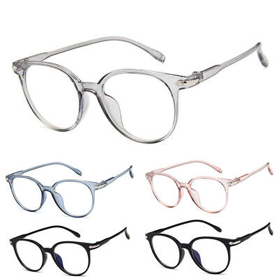 Optical Frame Glass Clear Len Eyewear Vintage Computer Anti-Radiation (Clear Glass Spectacles)