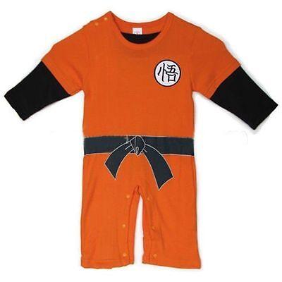 Dragon Ball Z Son Goku KungFu Babys Bodysuit Cosplay Party Costume 100% Cotton (Dragon Ball Z Baby Costume)