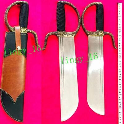 KungFu Battle Double Knife WuShu/Wing Chun Butterfly Broadsword Dao Sword Saber