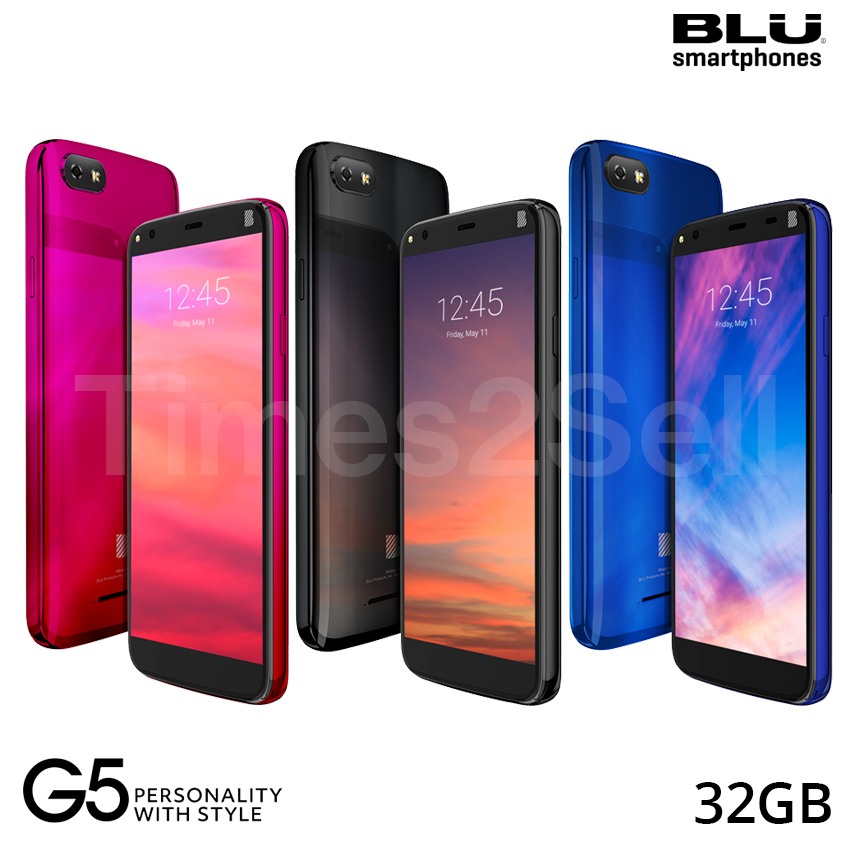"Android Phone - BLU G5 G0090 5.5"" 32GB 4G LTE Dual SIM Android GSM Unlocked Smart Phone New"