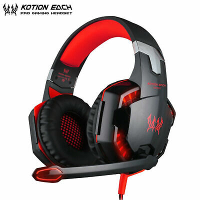 EACH G2000 Stereo Bass Surround Gaming Headset for PS4 New Xbox One PC Mic Red