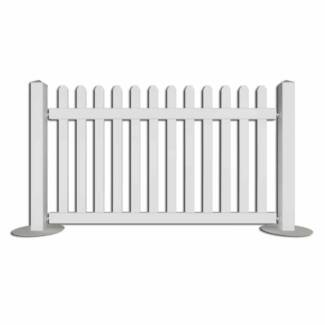 White Picket Event Fencing Portable | Wholesale priced | Delivery