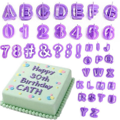 120 PCs Alphabet Number Letter Fondant Cake Decorating Set Icing Cutter Mould UK
