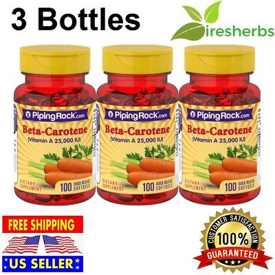 25000 Iu Vitamin (Beta-Carotene Vitamin A 25000 IU Eye Vision immune System SUPPLEMENT 300 SOFTGEL)