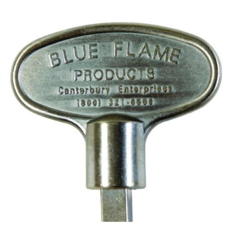 "Blue Flame-3"" Universal Key Pewter"