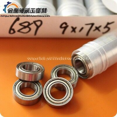 10pcs Quality Miniature Deep Groove Ball Bearings 689zz 618 9z