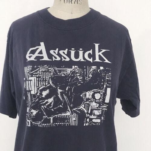 ⭕ 90s Vintage Assuck Misery Index T-shirt : punk hardcore grindcore brutal truth