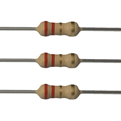 100 X 2.2 Ohm Carbon Film Resistors - 14 Watt - 5 - 2r2 - Fast Usa Shipping