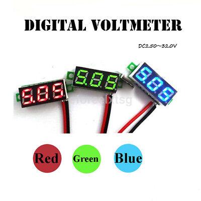 Mini Size 2 Wires Dc 4.5v-30v Led Digital Diaplay Voltage Voltmeter Panel Meter